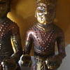 """Identify ETHNICITY of these, 11"""" high wood couple. Hand decorated"""