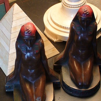 Art Deco Egyptian Bookends M. Peinlich - Books