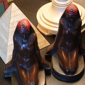 Art Deco Egyptian Bookends M. Peinlich - Books