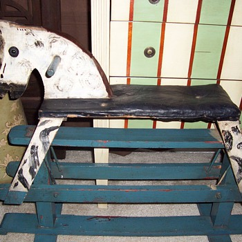 1920&#039;s Wooden Rocking Horse