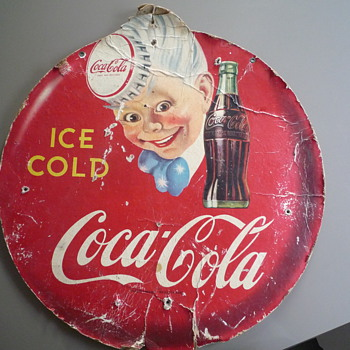 Cardboard coke sign from Australia