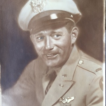 Vintage 8 x 10 Military Photo Looks like a movie star unknow who he really is??
