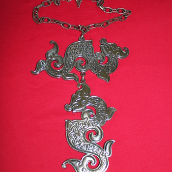 Napier Double Dragon Necklace - Costume Jewelry