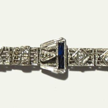 Vintage 20's Filigree Bracelet - Fine Jewelry