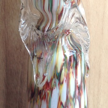 Welz honeycomb decor bulb vase - Art Glass
