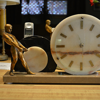 French Art Deco Slave to Time Clock 1925-30 - Art Deco