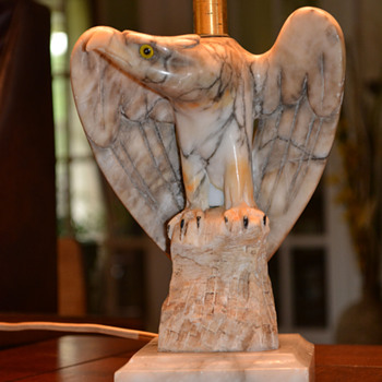 Alabaster Eagle Lamps....