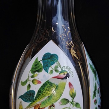 An artistically enamelled Harrach Vase