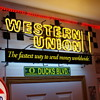 Western Union neon