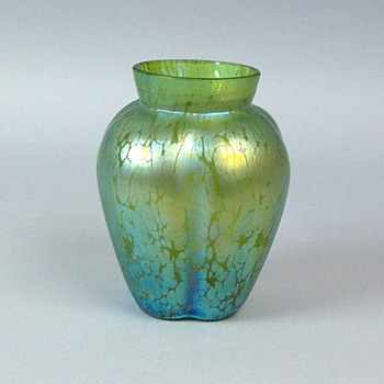 Early Loetz Creta Papillon with Crossed Arrows - Art Glass