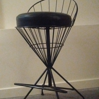 Wire cone shape bar stool - Mid-Century Modern