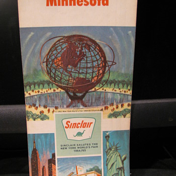 1964 Minnesota Sinclair Map - Petroliana