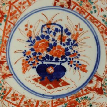 Lobed Imari Plate - Asian