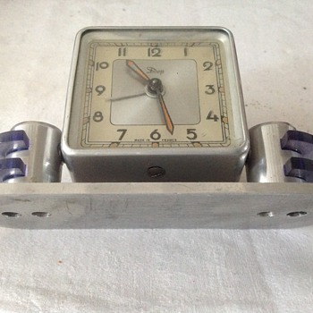 1930's Art Deco French Dep alarm/desk clock.