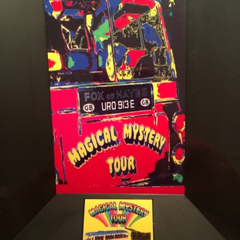 Magical Mystery Tour Bus piece-1967.... - Music Memorabilia