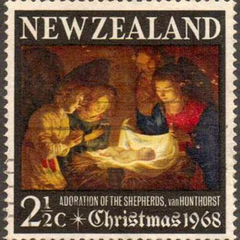 "1968 - New Zealand ""Christmas"" Postage Stamp - Stamps"