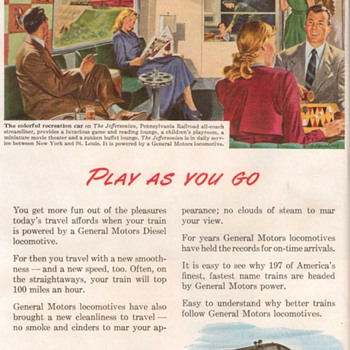 1948 - GM Electro-Motive Advertisement
