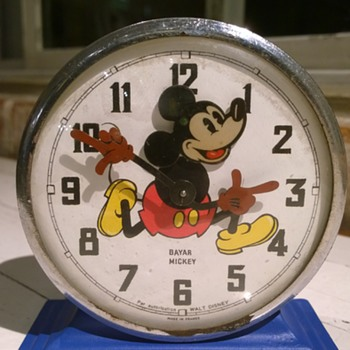 1951 Bayard Mickey Alarm Clock with a twist.