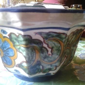 pretty talavera style planter - Pottery