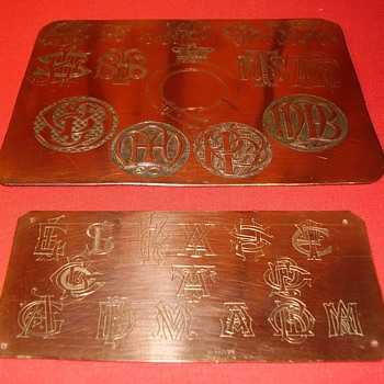 Victorian Silver Engravers work samples.
