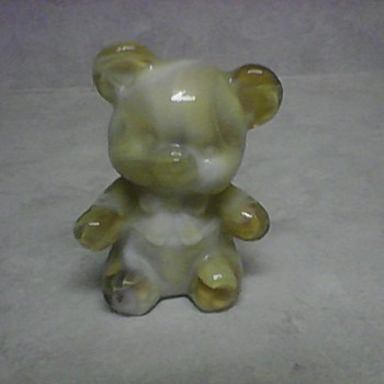 SLAG GLASS TEDDY BEAR