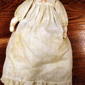 Antique Doll with worn signature - Dolls