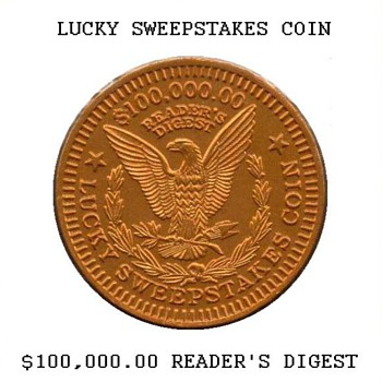 Reader's Digest Sweepstakes Coin