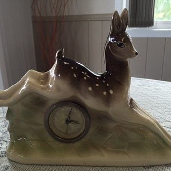 Jema Holland Small Leaping Deer Mantle Clock numbered (420) - Clocks