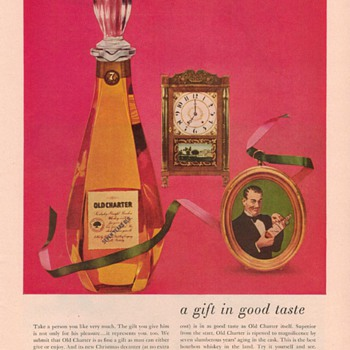 1954 Old Charter Whiskey Advertisement - Advertising
