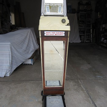 Movie Theater Watling Scale Co. Weight & Fortune Scale - Coin Operated