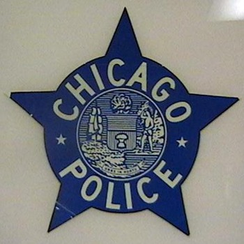 1960's Chicago Police Car Door Decal - Medals Pins and Badges