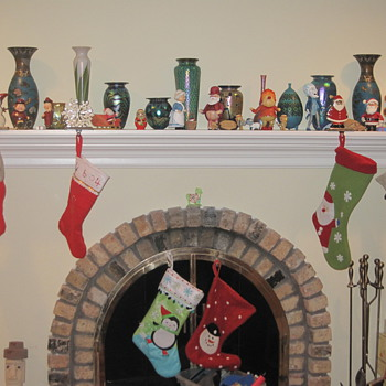 My Christmas Mantle - Art Glass