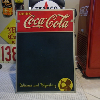 1940 Silhouette Girl Menu Board - Coca-Cola