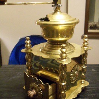 Solid Brass Coffee Grinder - Kitchen