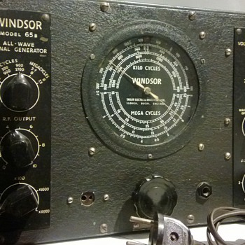 My crush on Delia made me buy a Windsor 65B Signal Generator