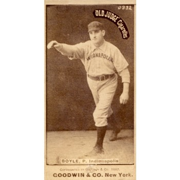 Goodwin & Co. Old Judge Tobacco Baseball Card of Henry Boyle. 1887 - Baseball