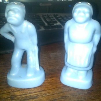 Rare Camark Mammie and Rastus Salt and Pepper Shakers - Kitchen