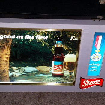 1960's Storz Beer sign