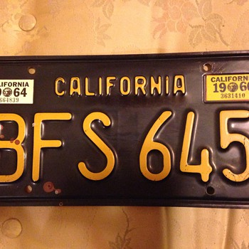 1963 California License Plate