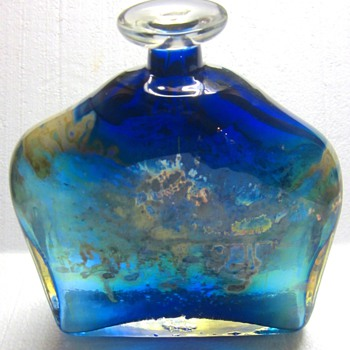 Very Large Ipsen Cobalt Bottle - 1972 - Art Glass