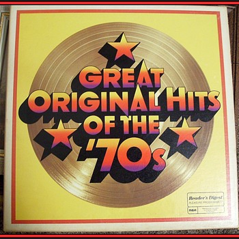 GREAT ORIGINAL HITS OF THE 1970's - Lp Record Vinyl Boxed Set ( 7 ) Readers Digest  - Records