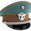 WWII German Officer's visor cap of a Schutzpolizei der Gemeinden (Gendarmerie or state rural police)