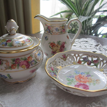 Schumann Creamer, Sugar Bowl and small Dish - China and Dinnerware