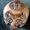 Asian  Ox Bone  Incense Burner -