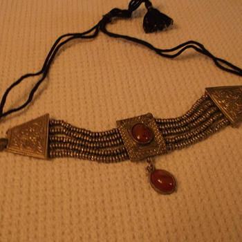 silver choker type necklaces from India