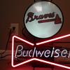 Budweiser Bowtie and Atlanta Braves sign cir. 1992 Union Made