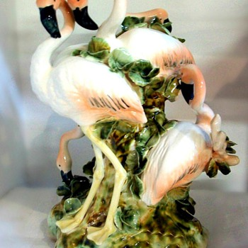 Apulum Fine Porcelaine Flamingo Ornament - Art Pottery