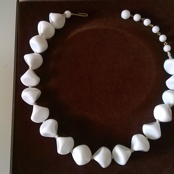 A Super Bright White Milk Glass Choker Necklace, Thrift Shop Find 45 Cents