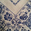 c1915 Sweetheart One Color Stamped Art Nouveau-Inspired Design Linen Tablecloth