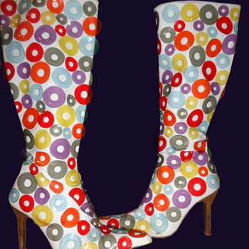 1960's MOD White GO GO BOOTS by Paloma Barcelo - Shoes
